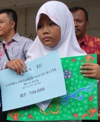 SDIT Al Hasanah Raih Juara 3 Lomba Melukis Batik Besurek