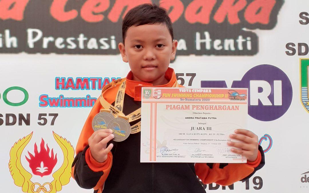 Siswa SDIT Al Hasanah Bengkulu Raih 2 Perunggu Ajang Fun Swimming Championship Se-Sumatra 2020